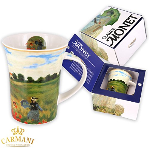 CARMANI - Kaffeetasse oder Teebecher aus Porzellan mit Monet