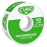 Curad Waterproof Adhesive Tape, 1/2 inch x 10 yards (Pack of 6)