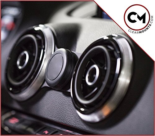 CLEARMOUNTS Audi Phone Holder – Designed for: 2013-2020 Audi A3, S3, RS3, e- Tron (8V) – Our Exclusive Low-Profile Magnetic Mount