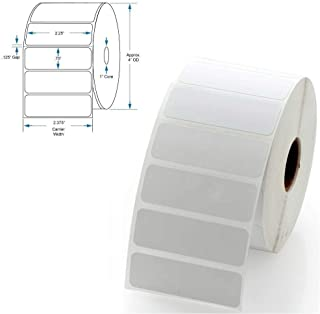 """Direct Thermal Labels, 2 1/4 x 3/4 inch, 2.25"""" x 0.75"""" White, Permanent Adhesive, Perforations Between Labels, 1700 per Ro..."""