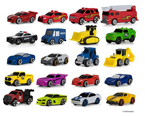 Micro Machines Super 20 Pack – Toy Car Collection, Features 20 Exclusive Vehicles (Tractor, Police Car, Tow Truck, Backhoe, Bulldozer, Mail Truck & More) - Amazon Exclusive