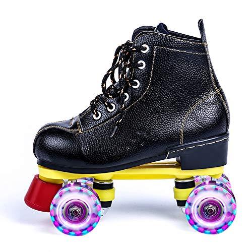 GGOODD Patines de Ruedas,Zapatos con Ruedas,4 Ruedas Zapatos Skate,Rueda LED Rueda de Destello Zapato de Rodillo de Patada,para Regalo Principiantes,Mujeres y Hombres