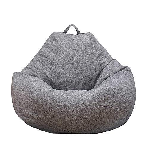 Iraza Puff Funda de Bean Bag Kit de Sillónes de Hinchables de Adulto Infantil para Sala Dormir (Gris, 80 * 90CM)
