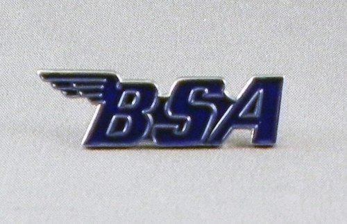 Metall-/Emaille-Brosche BSA-Motorrad-Logo, Blau