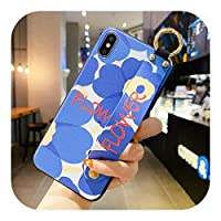 Hjiing iPhone SE 2020 12 Mini 11 Pro XS MAX X XR 6 6S 78プラスソフトカバー用パープルローズフラワーエンボスリストバンド電話ケース-Style 6-For iphone 6 6S