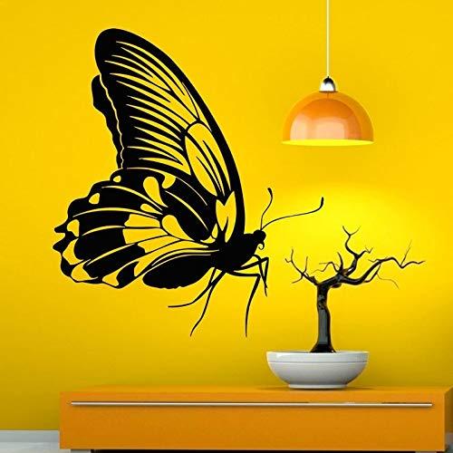 jiushivr Schmetterling Wandtattoo Vinyl Kunst Wandaufkleber Wohnkultur Wohnzimmer Wandbild Schöne Tier Hohl 118x134cm