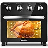 Aicook Air Fryer Toaster Oven Combo 24 QT/6 Slices Convection Toaster Oven Countertop, Roast/Bake/Broil/Fry Oil-Free,...
