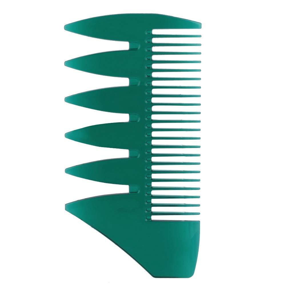 寛大さ毛細血管ワゴン紳士ワイド歯ヘアーコーム、両面クラシックオイルスリックスタイリングヘアブラシ、静的でカラフルな理髪用櫛(5色のオプション) (#2)