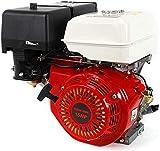 Gas Engine, 420CC 15 HP 4 Stroke Gasoline Motor Engine Recoil Start Go Kart Log Splitter Lifan Type Engine OHV Pull Start Garden Tool Gas Motor (US Stock)