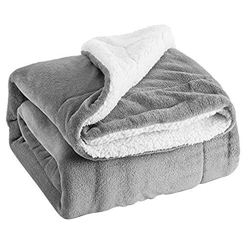TETHYSUN Manta cálida de franela de forro polar Sherpa mantas de franela de doble cara para sofá cama, sofá cama