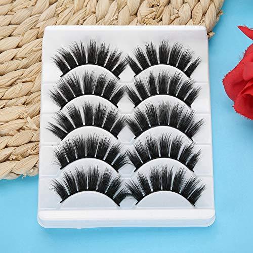 Falsche Wimpernverlängerung, bequeme schlanke Wimpern für Make-up, natürlicher Maskenbildner Make-up Beauty Shop für Mädchen(3D-59)