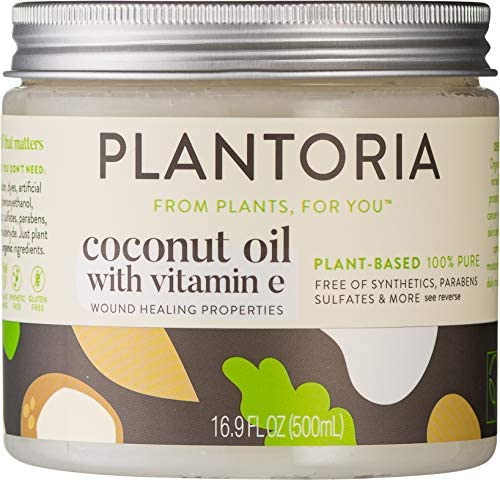 Plantoria Plant Based Organic Coconut Oil With Vitamin E Nourishing Hydrating Pure Natural Vegan product image