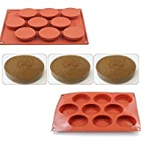 AYAMAYA Thanksgiving Gift 9-Cavity Silicone Cake Mold Candy Jelly Mould Soap Mold Oval Bakeware by AYAMAYA [並行輸入品]