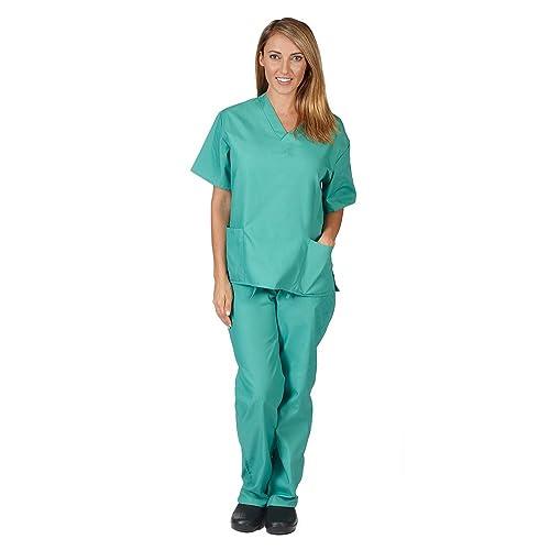 76ed760d15a Natural Uniforms Unisex Scrub Set - Medical Scrub Top and Pant