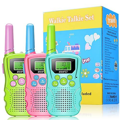 Walkie Talkie Niños Bateria Recargable 3 Marca WANFEI