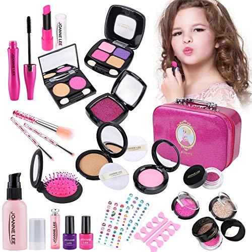 vamei Maquillaje Niñas 26 Piezas Kit de Juguete de Maquillaje Cosméticos Lavables Juego de Maquillaje para Cumpleaños Maletin Kit Maquillaje Niña Regalos de Cumpleaños para Niñas 3 4 5 6 7 8 A