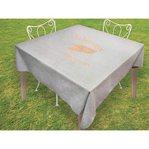 Mantel Cuadrado de algodón Antimanchas 180x180 cm Baguette