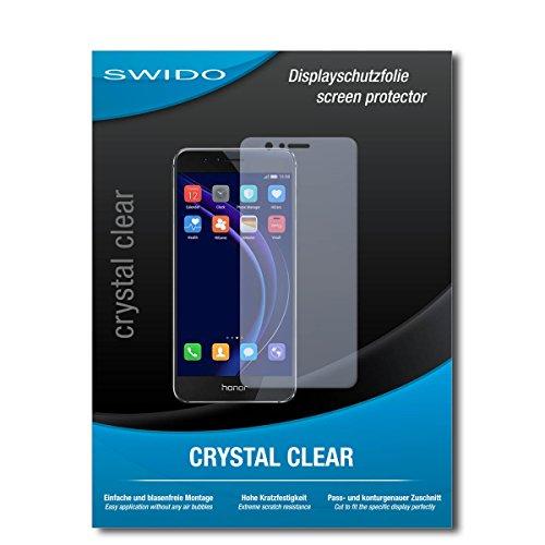 SWIDO Schutzfolie für Huawei Honor 8 [2 Stück] Kristall-Klar, Hoher Festigkeitgrad, Schutz vor Öl, Staub & Kratzer/Glasfolie, Bildschirmschutz, Bildschirmschutzfolie, Panzerglas-Folie