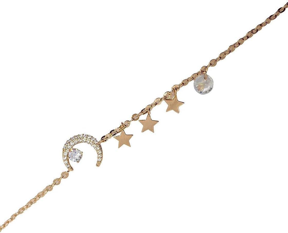 gold celestial bracelet black and gold bead bracelet moon jewellery gold moon charm bracelet Gold moon bracelet gold and black bracelet