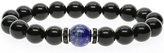 coai Bracelet Perle Obsidienne Lapis Lazuli Unisexe