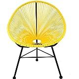 WNN-URG Silla de salón/Silla de salón Grande/Exterior/Exterior para Silla Exterior/de bistró/terraza Mobiliario URG (Color : Yello Chair {One})