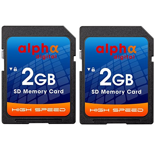 2GB SD Card [Twin Pack] for NIKON Coolpix S7000, S6900, P530 P600, A10 A300 W100 W300 A900 B500 B700 L830 P610 P700 3200 L22 S210 L840 L830 L820 L620 L610 Digital Cameras
