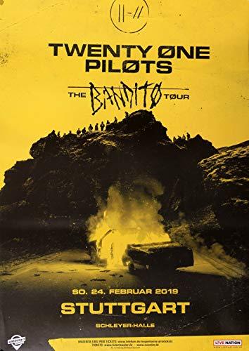 Twenty One Pilots - The Banditos, Stuttgart 2019 » Konzertplakat/Premium Poster | Live Konzert Veranstaltung | DIN A1 «