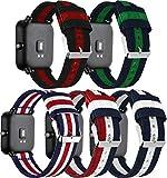 Correas para Relojes Nylon Compatible con Huawei Watch GT/GT 2e / GT 2 (46mm), Correa de Reloj de NATO para Mujer y Hombre con Hebilla de Acero Inoxidable (22mm, 5PCS B)