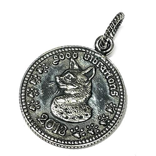 ジナブリング (JINA BRING) キャット 猫 コイン 貨幣 肖像 ペンダント シルバーペンダント シルバー925 トップ ネックレス メンズ レディース アクセサリー ブランド GOOD VIBRATIONS