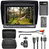 Neewer F100 Kit Moniteur Appareil Photo : 7' Ultra HD 1280 x 800 IPS Moniteur Champ écran + F550 Batterie de Rechange + Micro USB Chargeur + Étui de Transport pour Sony Nikon Olympus Panasonic