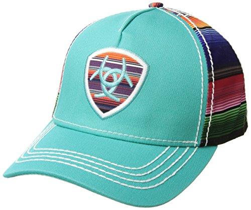 ARIAT Serape Logo Shield Ball Cap Turquoise/Multi One Size