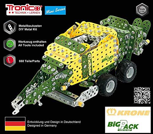 TRONICO Metallbaukasten Anhänger Traktor Krone Big Pack High Speed