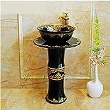 Lavabo de pedestal tipo Lavabo de pedestal de cerámica euclidiana Lavabo vertical Lavabo integral