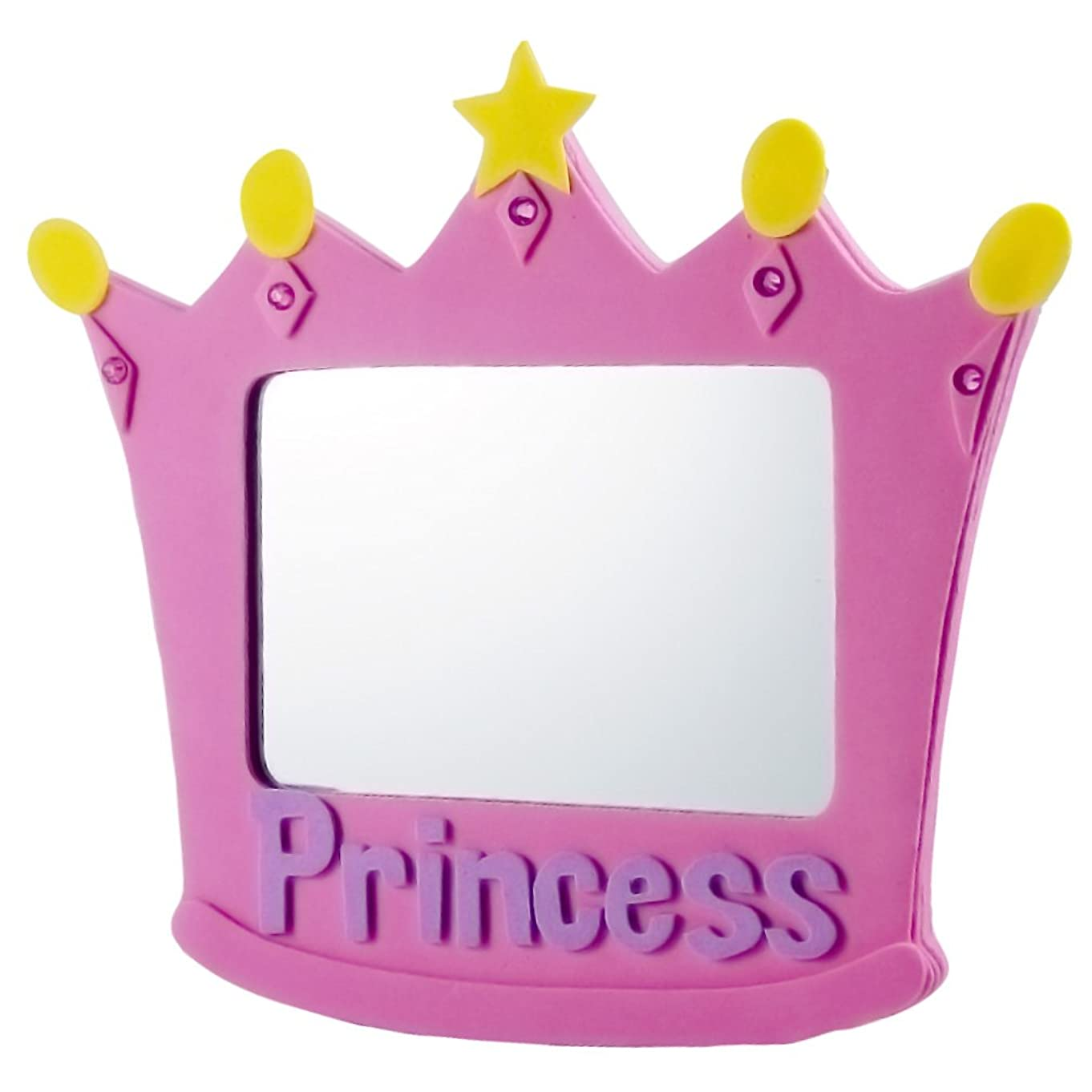 EMILYSTORES EVA Unbreakable Size 5 Inch Pink Princess Mirror For Child Kids
