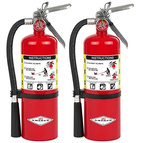 Amerex B500, 5lb ABC Dry Chemical Class A B C Fire Extinguisher (2) California