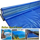 Cobertor solar piscinas Solar Cubierta de la Piscina, para Verano Invierno Piscinas Elevadas, Piscinas Inflables, Rectangular Calefacción Lona Alquitranada, Reforzar Ojales ( Size : 1m x 2m(3ft×6ft) )