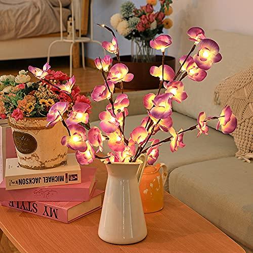 HAOXIU Guirnalda de luces LED con forma de phalaenopsis para árboles, 20 ledes, funciona con pilas, para decoración de árboles pequeños