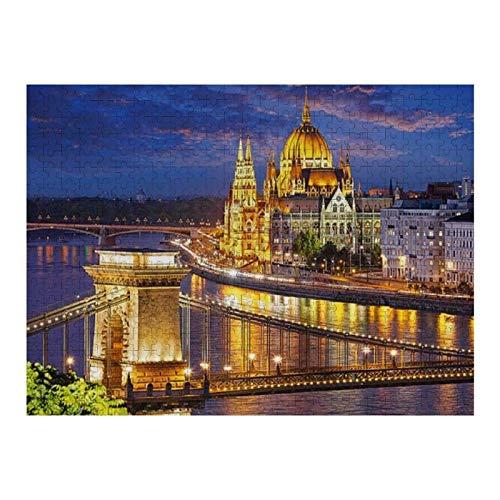 XIAOXINGXING Rompecabezas Adultos 1000 Puzzle Creativo Puzzle Budapest Hungría Hungría Regalo para niño Rompecabezas educativos Juegos