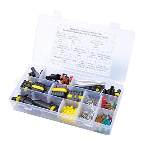 WINOMO Verbinder für elektrische Kabel Wasserdichte Steckverbinder-Stecker Terminals für VERKABELUNG Isolierte Anschlüsse für Verkabelung Verkabelung mit Schnell und termorestringente