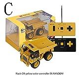 Ocobudbxw 1/64 Excavator Truck Dumping Car Crane Mini Construction Vehicle RC Toys for Kid Child Toys