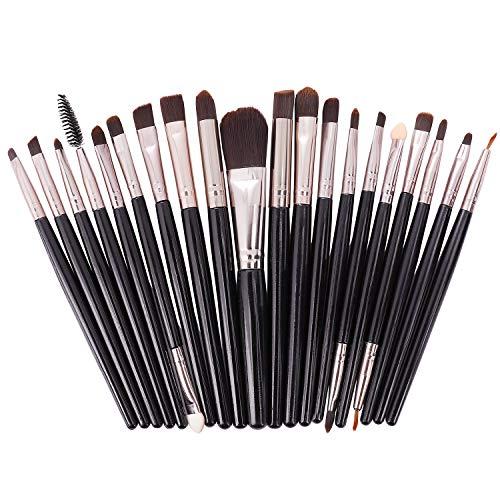 Make up Pinsel Set, Augenpinsel Pinselset 20 Stück Premium Kosmetik mit Synthetisches Haar...