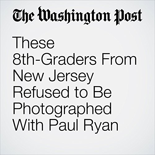 These 8th-Graders From New Jersey Refused to Be Photographed With Paul Ryan copertina