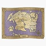 Cartography Skyrim Oblivion Tamriel Elder Map Scrolls Home Decor Wall Art Print Poster !