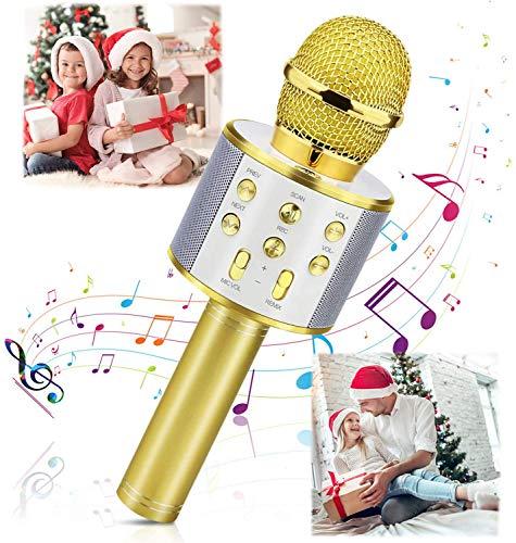 Micrófono Inalámbrico Karaoke Bluetooth, Fotgear Portátil Inalámbrico Karaoke Bluetooth Dispositivo de Mano con Micrófono y...