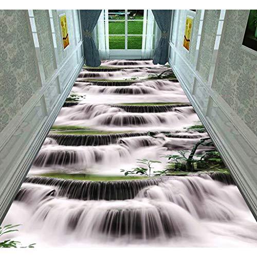 Tapijt Runners 3D Natuurlijke Kleine Waterval Print Runner Tapijt, DIY Corridors Runner Tapijt, Aangepaste grootte Lange gang Entree Slip Wasbare Deur Mat Wasmachine Formele Stap