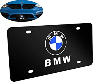 Goodcover Heavy Stainless Steel License Plate Cover Emblem for BMW,License Plate Frame for BMW,Decorate Your BMW License Plate Front