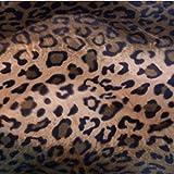 kissenwelt.de Möbelpolster Meterware Kunstfell Leopard,