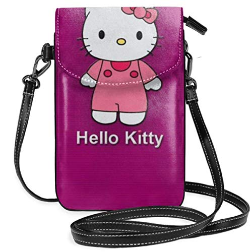 AEMAPE Bolsos Cruzados para Mujer - Hello-Ki-tty Cartera pequeña para teléfono Celular con Ranuras para Tarjetas de crédito-CH