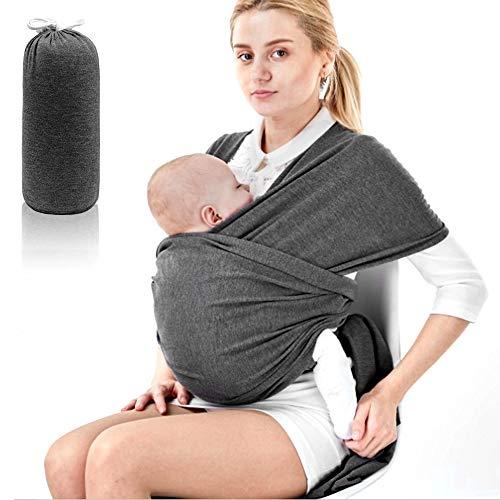 Phiraggit Babytragetuch Kindertragetuch, Atmungsaktiv Tragetuch Unisex-Babytrage Koala-Kuschelband-Babytrage für Neugeborene bis 20 kg Leicht zu Tragen (grau)
