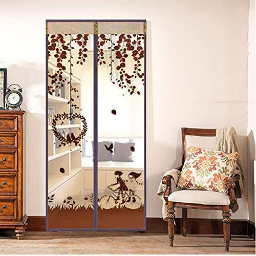 NO LOGO LT-Home, 1pc Mains Libres magnétique moustiquaire Porte Filet Anti Insectes Mouche moustiques Porte écran Anti-moustiques magnétique Rideau Filet for Porte